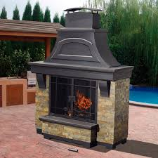 Outdoor Chimney Fireplace by Outdoor Fireplaces Wood Burning Crafts Home