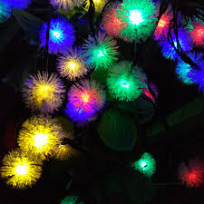 festival of lights prices yiyang solar garden snowball decoration led string lights holiday