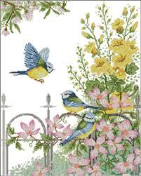 aliexpress com buy birds in garden gate flowers scenery