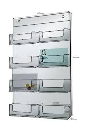 clear perspex 8 bay wall mounted card holder