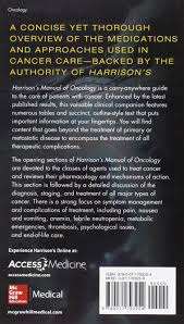 harrisons manual of oncology 2 e medical denistry amazon es