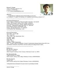 Sample Resume Fresh Graduate Accounting Student by Sample Resume For Accountants In The Philippines Templates