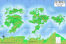 World Map Of Continents And Oceans To Label by Fantasy World Map Tv Tropes