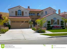 mediterranean style home large two story mediterranean style home royalty free stock photo