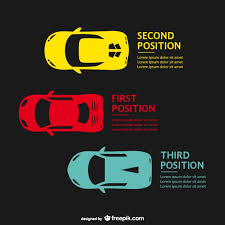 vector template with racing cars free vector 123freevectors