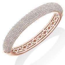bangle bracelet color gold plated images 10 row 18k gold plated clear pave crystal hinged bangle bracelet jpg
