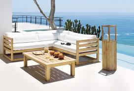 canapé teck jardin beautiful salon de jardin bois clair contemporary amazing house