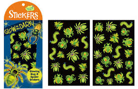 glow in the stickers glow in the bug spider stickers from peaceable kingdom