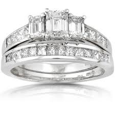 overstock wedding ring sets si1 si2 bridal jewelry sets shop the best wedding ring sets