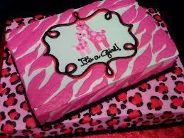 pink cheetah and zebra print baby shower cake books worth