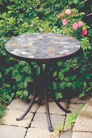 outdoor mosaic accent table 18 slate mosaic accent table for decks patios and gardens