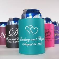 wedding koozie favors wedding can coolers beverage insulators personalized