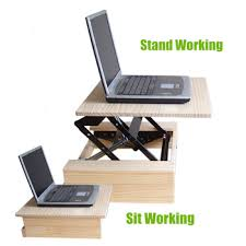 portable computer desk folding table sit stand desk stand up desk
