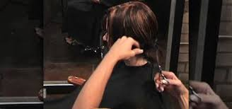 how to cut angled bob haircut myself how to cut and style a classic one length blunt bob hairstyle