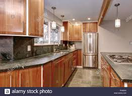 oak kitchen cabinets with stainless steel appliances luxurious kitchen room with stainless steel appliances