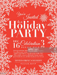 snowflake holiday party invitation template red vector art getty