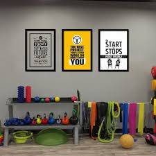 home gym wall decor home gym wall art poster canvas painting motivational fitness