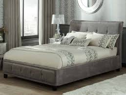 king size ottoman bed frame serene wesley steel colour fabric ottoman bed frame buy online at