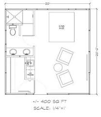 the studio400 plan is a single room modern guest house plan with a small guest house floor plans ideas home