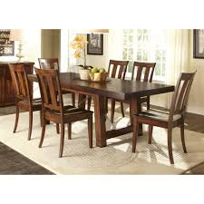 tahoe rustic mahogany 7 piece dinette set overstock com shopping