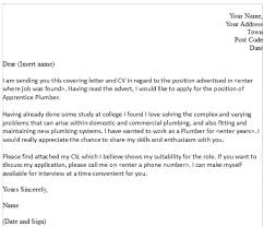 first line of a cover letter plumbing apprentice cover letter