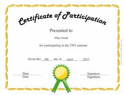 fun certificate templates free certificate of participation customize online u0026 print