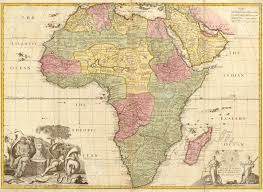 Ancient Map High Quality Ancient Map Of Afrika Circa 18 Century Stock Photo