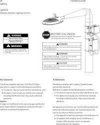 ge outdoor lighting control 90003 lightgrid wireless outdoor light control node user manual ge