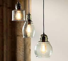 Light Bulb Pendant Paxton Glass 3 Light Pendant Pottery Barn