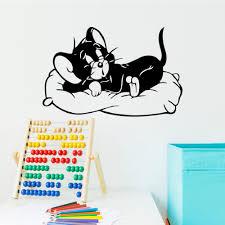 cat home decor 89 57cm cartoon funny tom and jerry black sleeping cat home decor