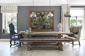 farmhouse table with bench and chairs dining room astounding farm style dining room tables farm style