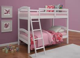 pinehurst ii twin over twin bunk bed white finish hom