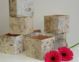 Home Decor Centerpieces Birch Bark Wood Vases Wedding Table Decor Flower Pot Rustic