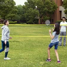 amazon com md sports complete 4 player badminton set sports