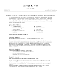 Resume Sample Executive by Outside Sales Resume Examples Splixioo