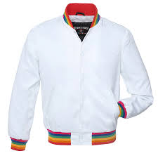 color white white satin and white satin letterman jacket sr448 us