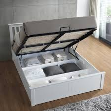 Wooden Ottoman Bed Frame Malmo White Wooden Ottoman Bed