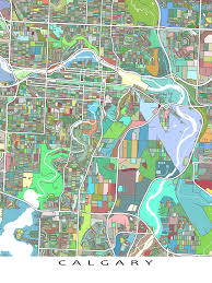 Canada Maps by Hang A Bit Of Calgary Alberta Canada On Your Wall With This
