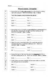 fumblesiqg printable irregular plural nouns worksheet