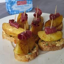 recette canapé apéritif facile bouchées aux pommes magret fumé recettes de fête apéro et la pomme