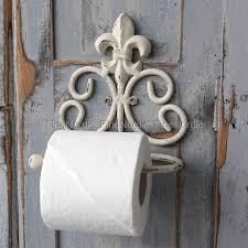 Toilet Paper Holders Chic Antique Toilet Paper Holder With Fleur De Lis Antik Hvid