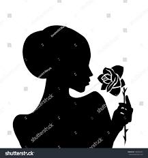 silhouette rose hand vector stock vector 186926447 shutterstock