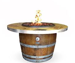 wine barrel fire table amazon com authentic wine barrel fire pit vintage wine box top