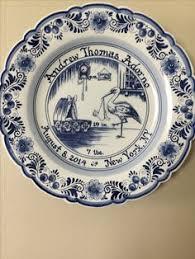 birth plates delft blue birth plates delft blue plates delft