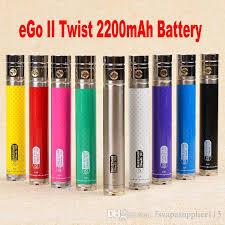 si e cing electronic cigarette battery gs ego ii 2200mah twist battery ego