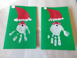 christmas craft to make with your kids handprint santa greeting