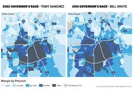 Dallas County Map As Texas Gets Increasingly Red Dallas Goes Blue The Texas Tribune