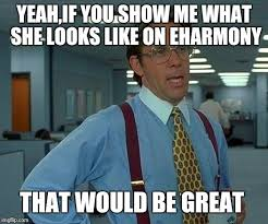 Eharmony Meme - that would be great meme imgflip