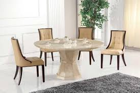 round table and chairs vida living exclusive marcello cream marble 130cm round dining table