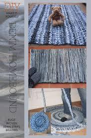 Denim Rag Rug 179 Best Rag Rugs Images On Pinterest